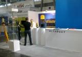 Stavba expozice na veletrhu INTERGEO Hannover