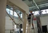 Příprava na montáž veletržního stánku